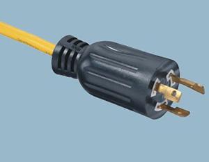 美标自锁电源线插头