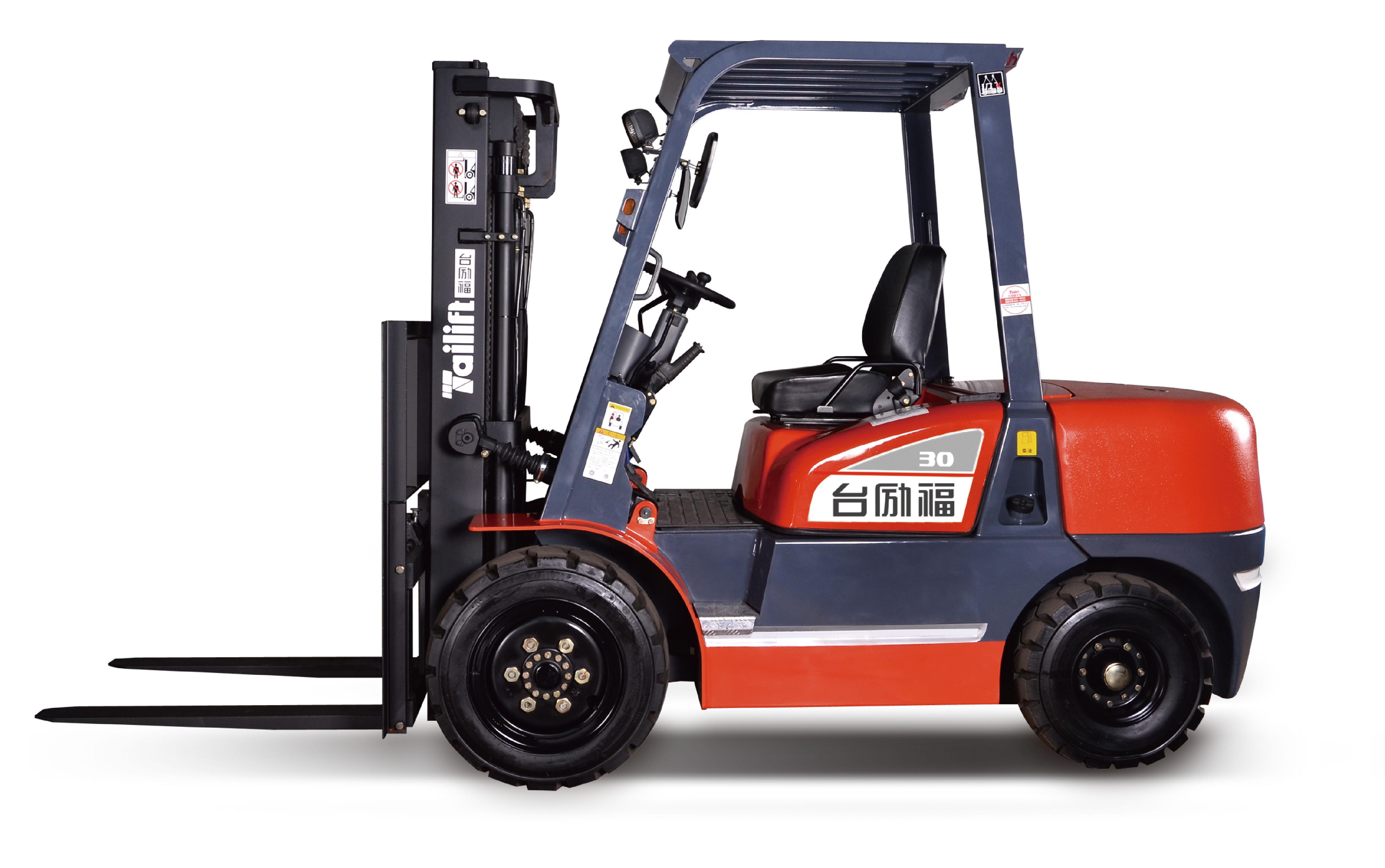 台励福叉车3吨内燃平衡重叉车