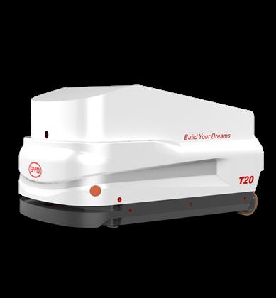 比亚迪锂电搬运车牵引式搬运机器人