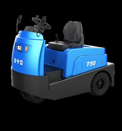 比亚迪锂电牵引车5吨座驾式牵引车