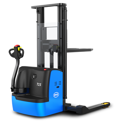 比亚迪锂电堆高车1.5吨宽支腿步行式托盘堆垛车