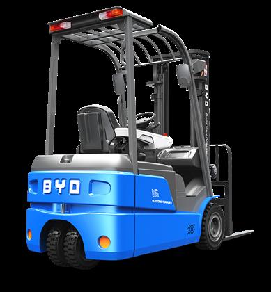 比亚迪锂电叉车1.6吨1.8吨三支点平衡重式叉车