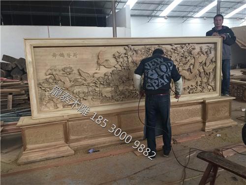落地木雕屏风加工
