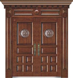 别墅钢木装甲门