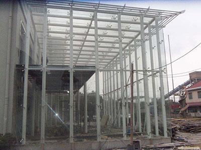 玻璃雨棚钢架