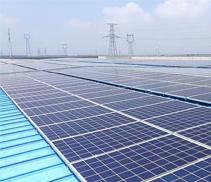 大型屋頂在線式無儲能純光伏市電互補離網係統