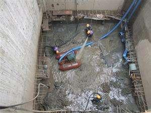 沉井施工、堵漏