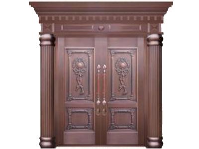 不锈钢镀铜门