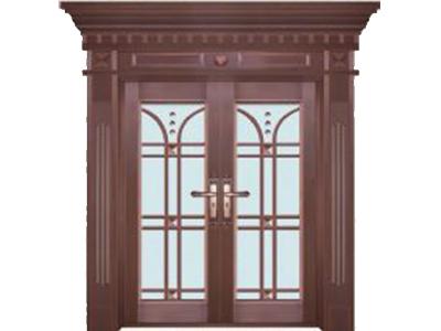 玻璃銅門安裝