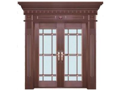 石家莊玻璃銅門定做