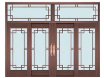 石家庄玻璃铜门安装