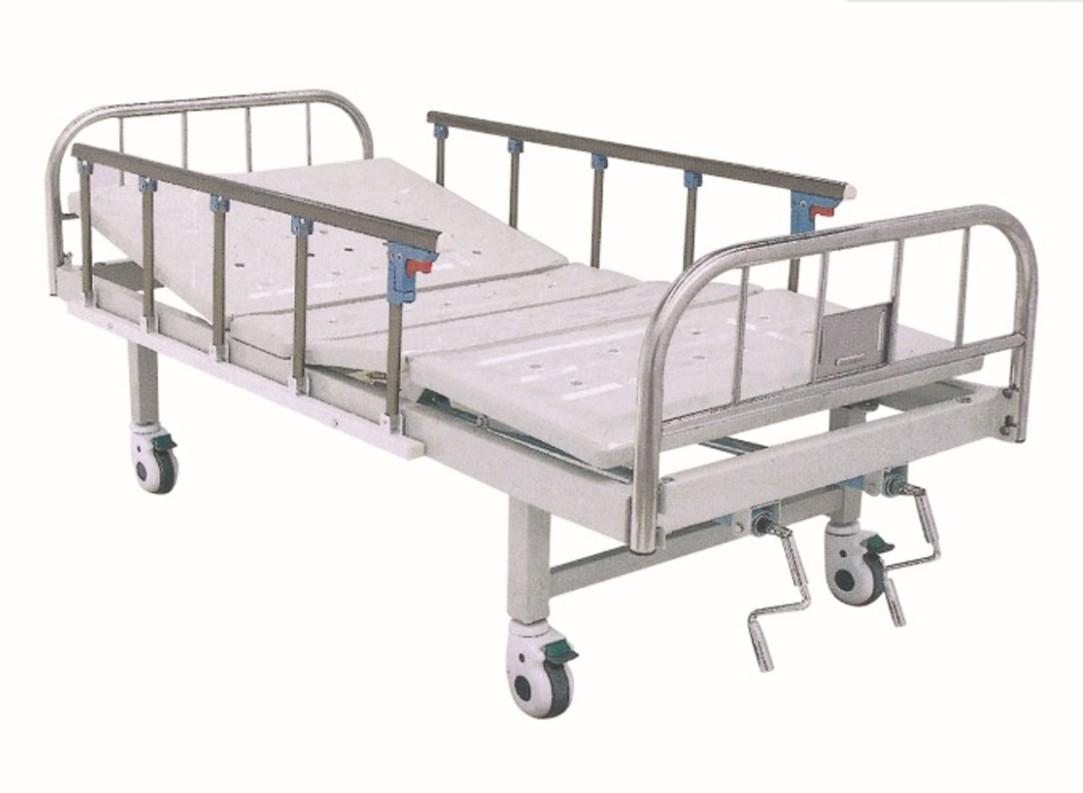 不锈钢床头双摇床-五档护栏