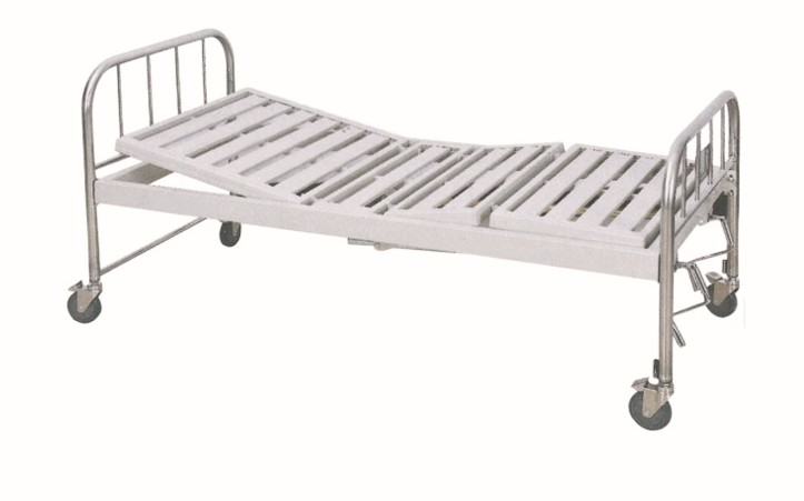 不锈钢床头双摇床-带轮