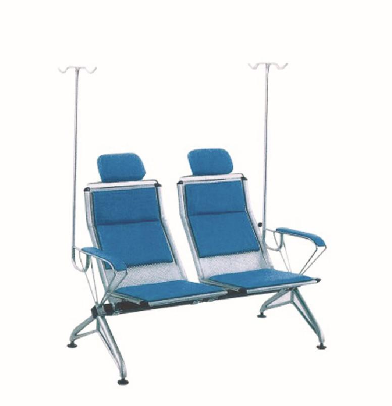 铁制两人连排输液椅