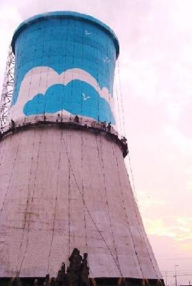 冷却塔防腐美化