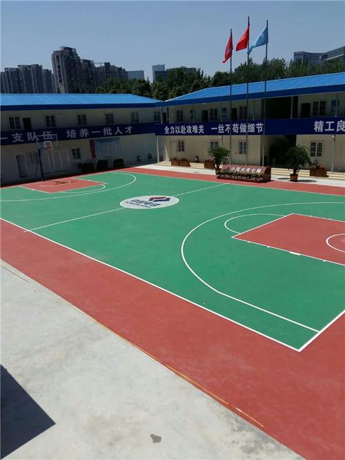 丙烯酸塑胶篮球场