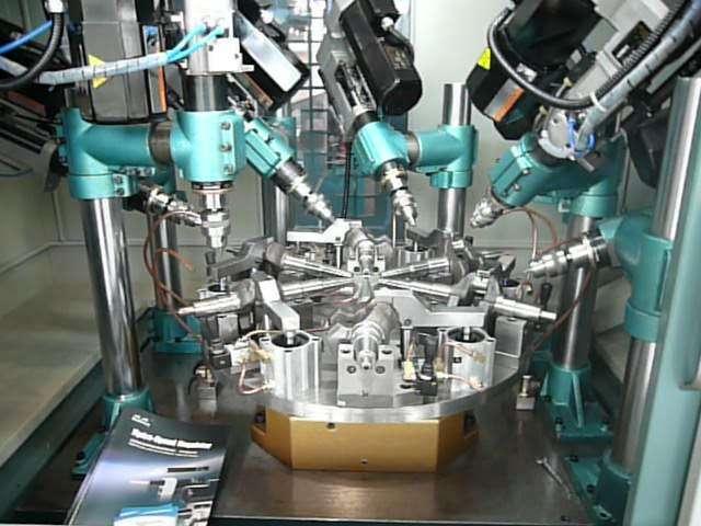 數控轉盤式多工位鑽攻組合機床