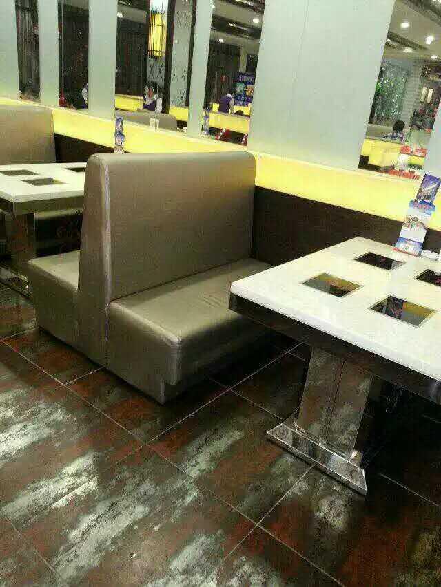 餐厅卡座沙发定制