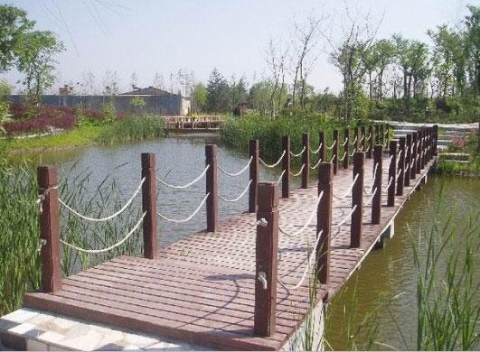 防腐木桥梁施工