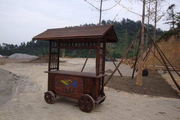 防腐木售货车