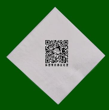 餐巾纸单张定制展示