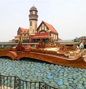 济南泉城欧乐堡(欧乐堡沙盘及老济南火车站)