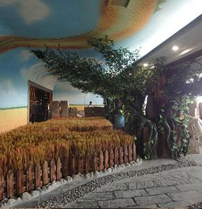 泰安啤酒厂假树,假山