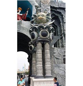 欧乐堡雕塑罗马柱