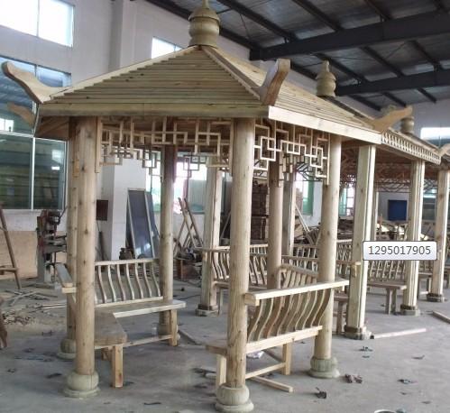 兴义碳化木凉亭设计