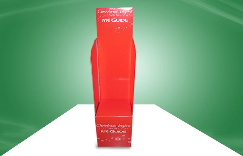 红色圣诞礼物抛售箱