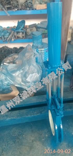 液动推杆耐磨陶瓷刀闸阀
