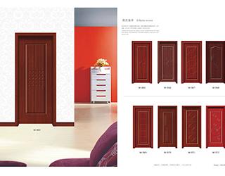 实木贴板套装门M-064