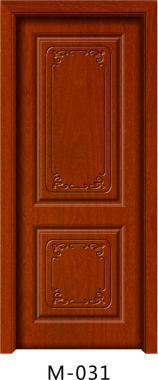 实木贴板门M-031