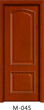 实木贴板门M-045