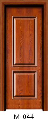 实木贴板门M-044