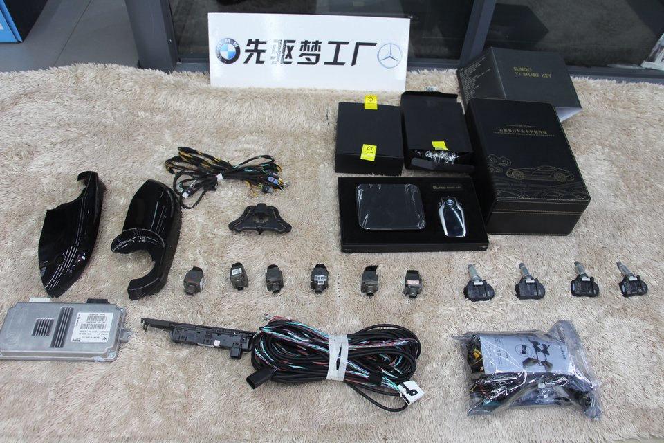 宝马X5加装原厂360全景+原厂胎压+液晶钥匙