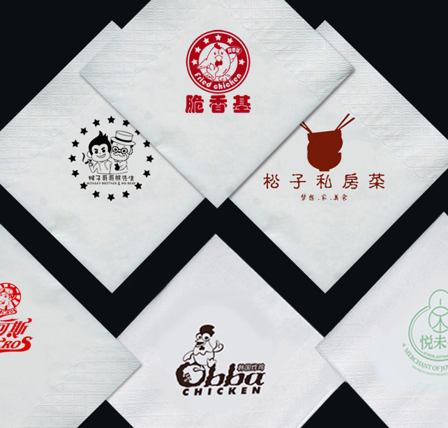 印花方巾纸