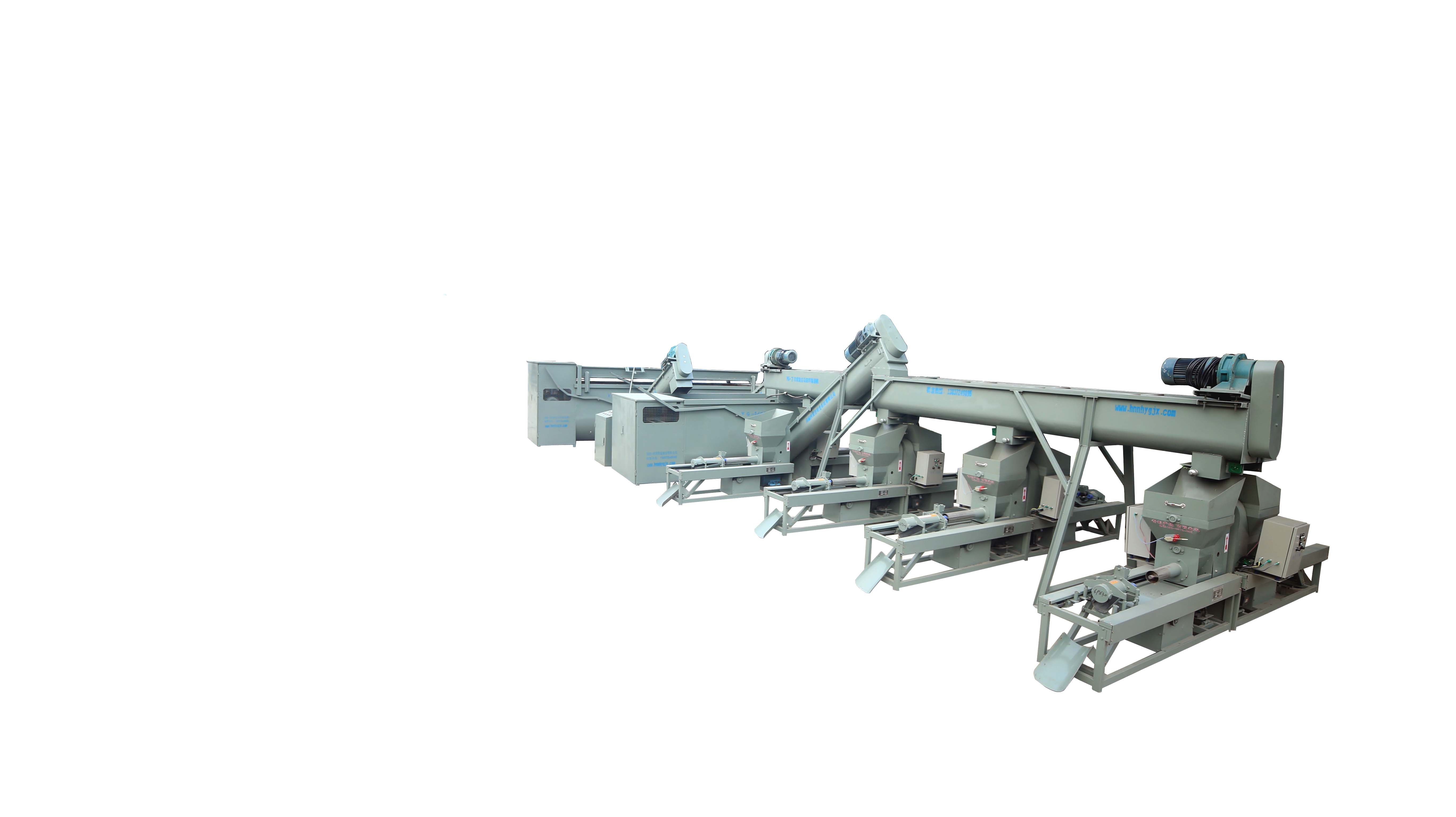 石家庄YG系列八工位上方回料螺旋输送装袋流水线
