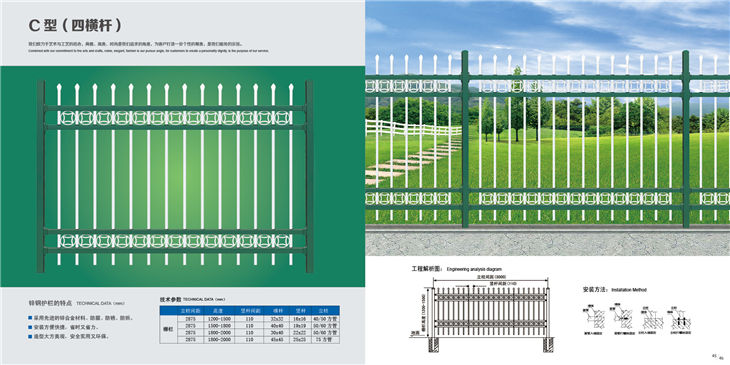 成都锌钢道路围栏