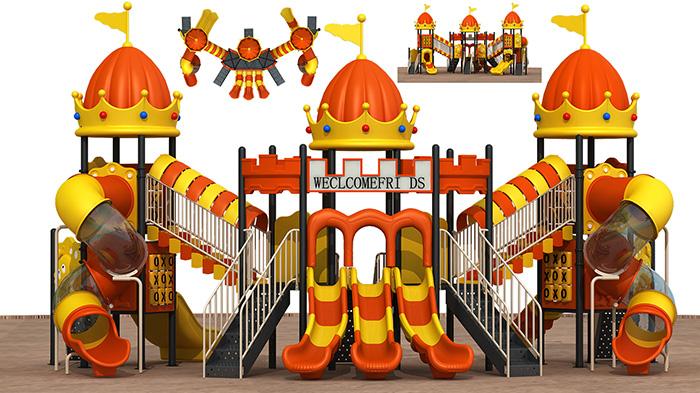 城堡顶滑梯