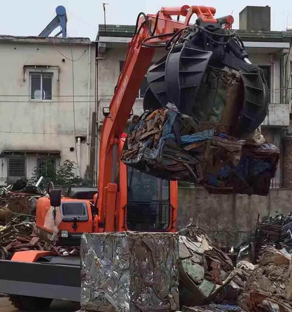 河北夾廢鐵挖掘機