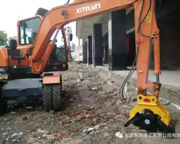 打夯挖掘机