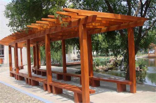 防腐木回廊