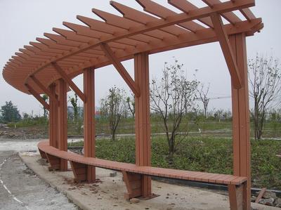 湖北防腐木连廊