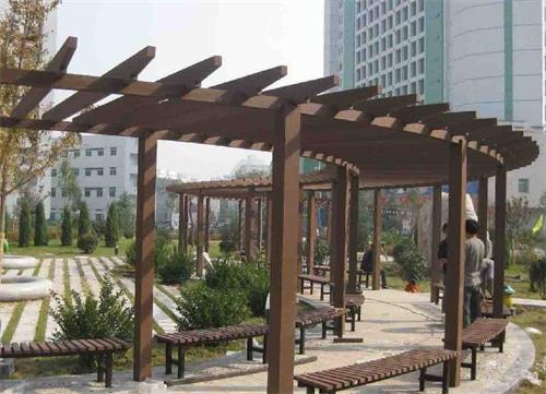 防腐木回廊设计