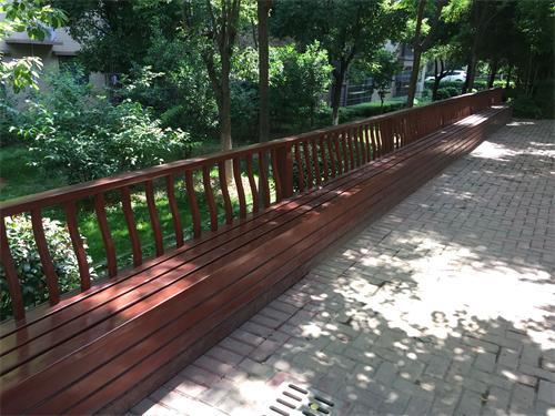 防腐木单边廊架
