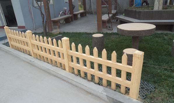 仿木栏栅制作工艺