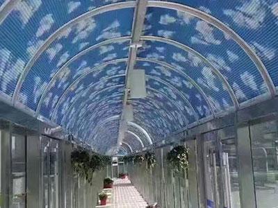 石家庄電動蜂巢天棚簾