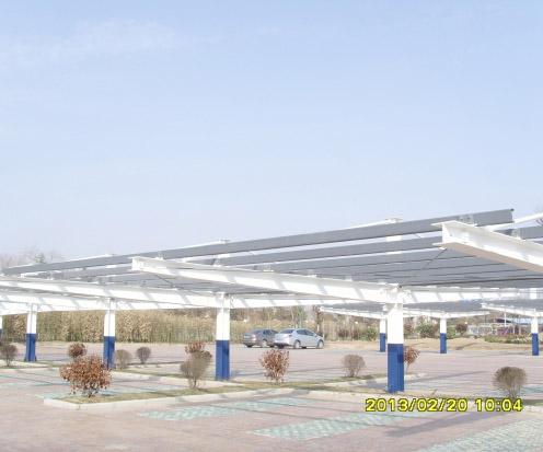 非防水太阳能光伏车棚