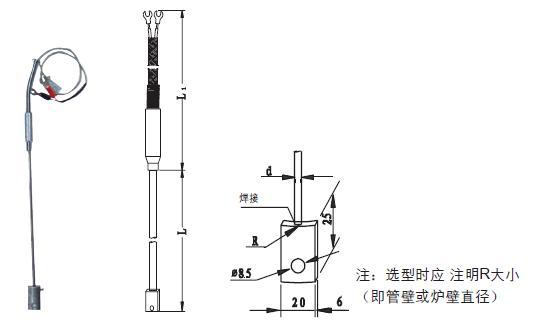 爐(管)壁熱電阻(偶)及抱箍熱電偶